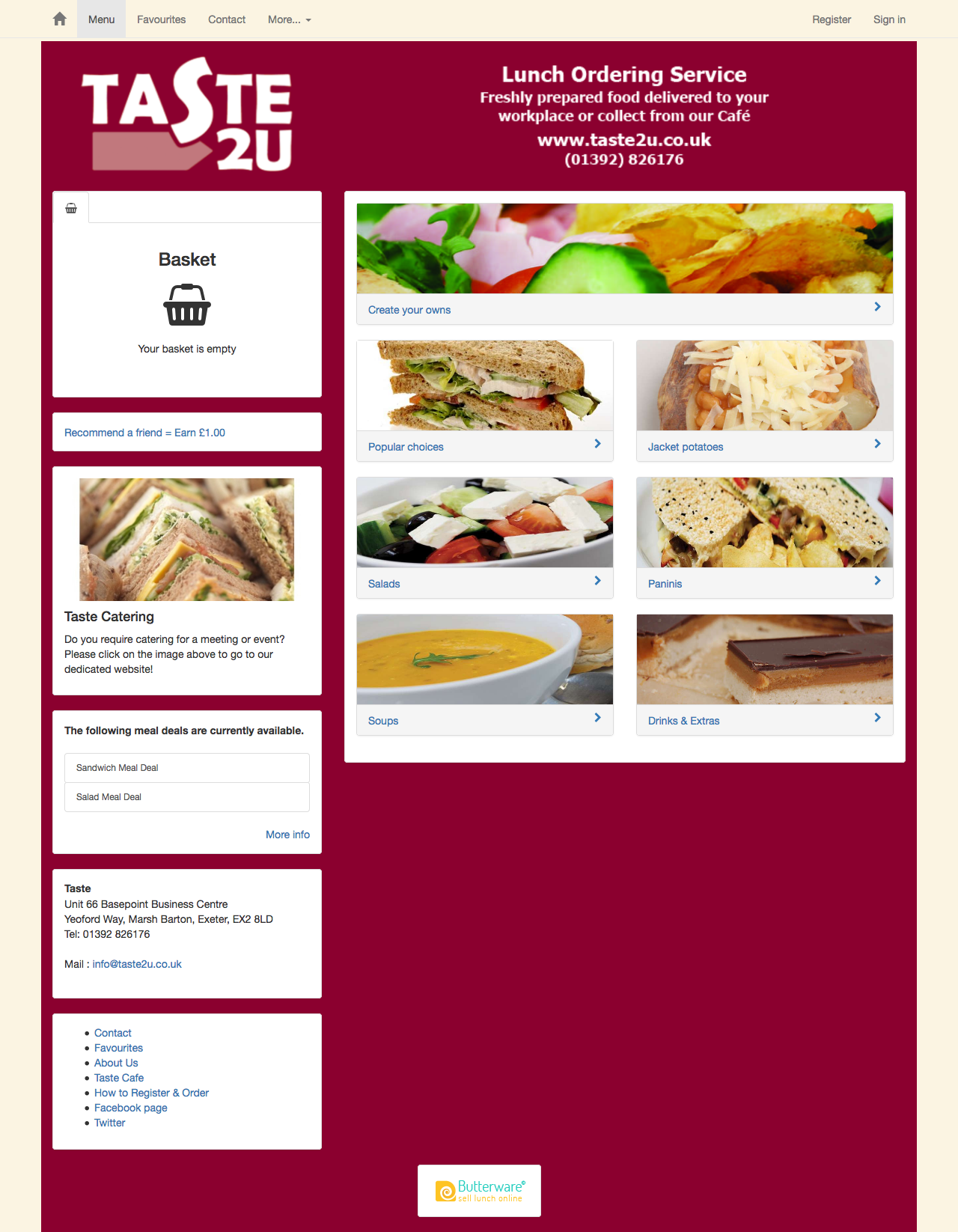 Featured site : Taste2u